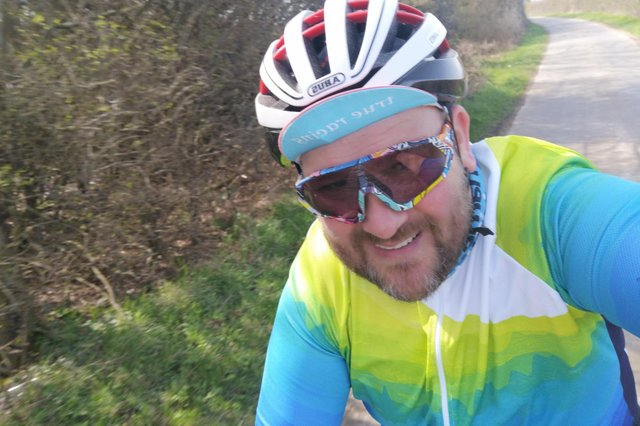 Kieran James will be cycling over 200 miles.