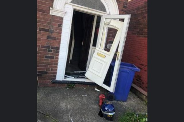Police raided this house in Balby this morning