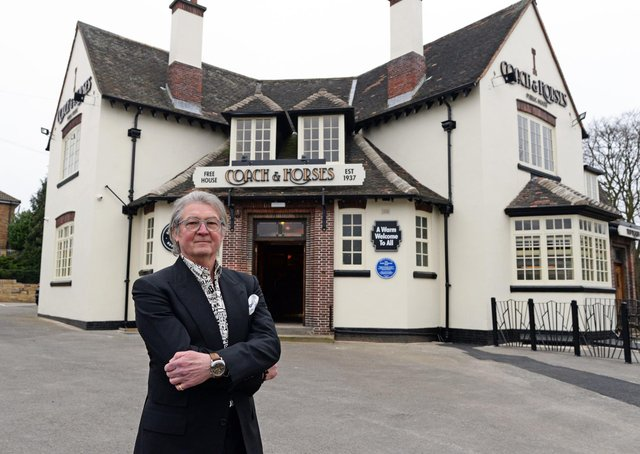 Gordon Jones, pictured at the Coach and Horses, Barnburgh. Picture: NDFP-02-03-21 CoachHorses 2-NMSY