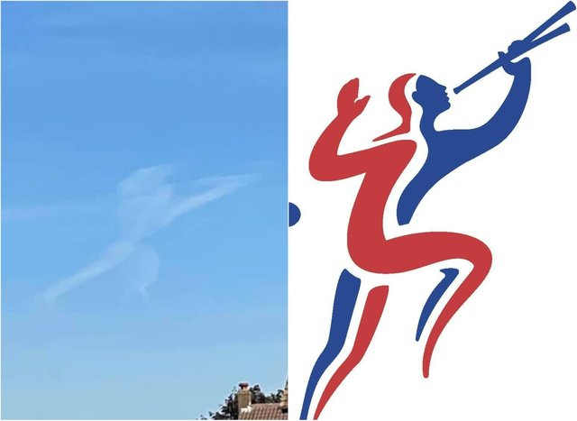 The cherub cloud, similar to the old BT logo, was spotted over Doncaster. (Photo: Jamie Linford).