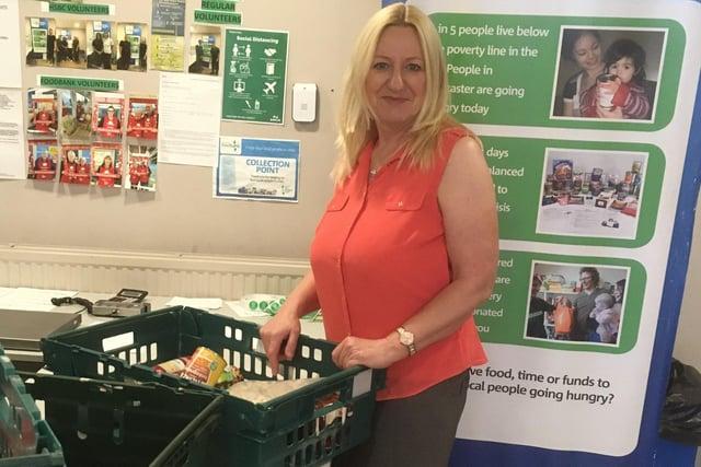 Sandra Edwards at Doncaster Foodbank