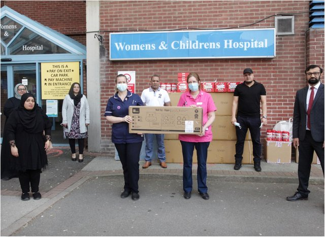 The items were handed over at Doncaster Royal Infirmary.