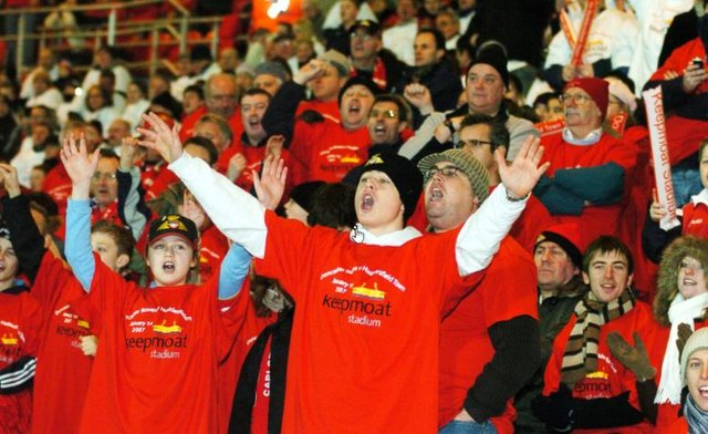 Can you spot yourself in these crowds of football fans?