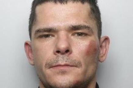 Pictured is Stanislav Duoba, aged 32, of no fixed abode, who was sentenced to 24 months of custody at Sheffield Crown Court on February 19 after he admitted possessing a firearm with intent, possessing a pepper spray and assaulting an emergency worker. The court heard Duoba was spotted by motorists on December 5 standing in Sandringham Road, Doncaster, with a rifle and he later spat at a police officer at Doncaster police station. James Gould, defending, said the firearm was a replica and Duoba had been drunk.