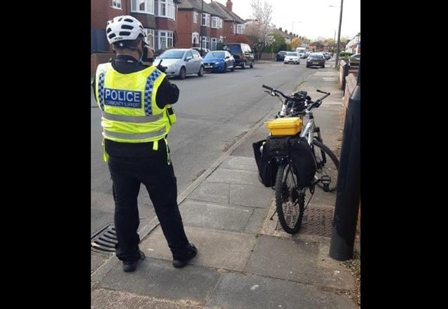 Police carrying out a speeding op near Bennetthorpe yesterday