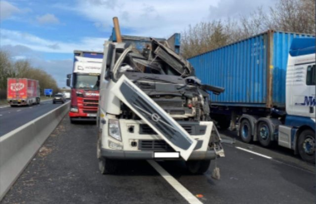 Crash on the A1M today which caused the carriageway to be closed earlier