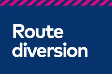 Bus service diversin in place