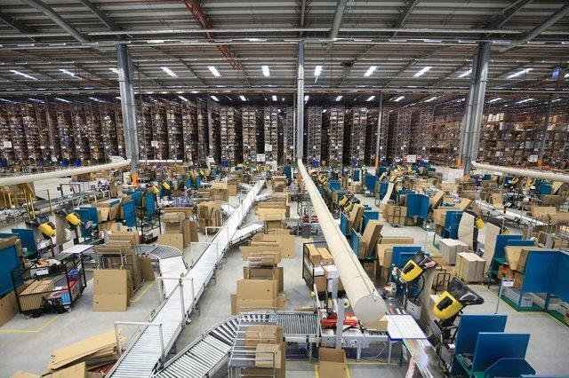 The Amazon depot in Doncaster