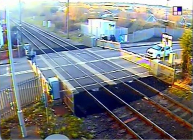 Youths were filmed lifting the barrier in Rossington.