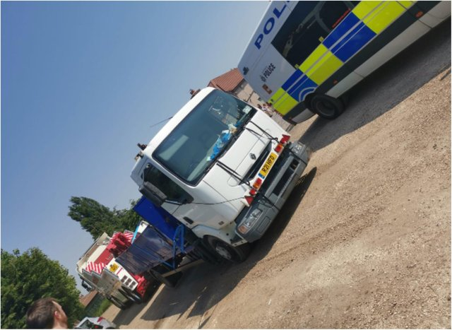 Police swooped in Dunscroft yesterday.