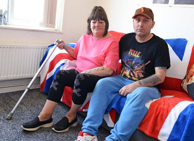 Andrea Jackson, pictured with her partner Eddie Martyn. Picture: NDFP-15-06-21-Jackson 1-NMSY