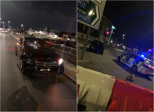 The vehicles were involved in a collision near to St George's Bridge.