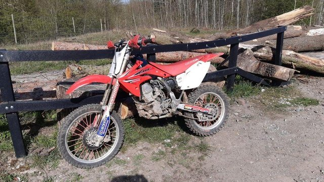 This is the bike that the police seized.