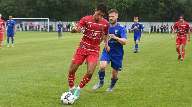 Kyle Knoyle impressed during Rovers' friendly at Rossington Main. Picture: Andrew Roe/AHPIX