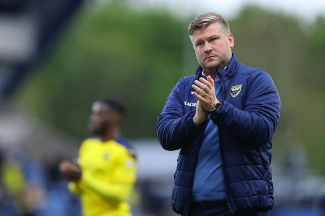 Karl Robinson, Manager of Oxford United. (Photo by Richard Heathcote/Getty Images)