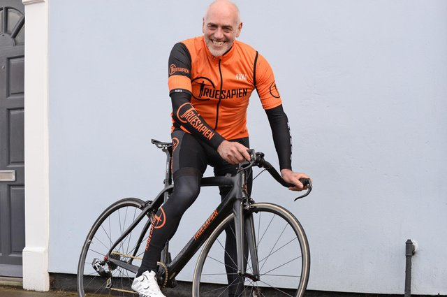 Richard Stoodley, pictured is embarking on a 1,800 mile cycling challenge as he retraces the same route which his dad took while being transported as a prisoner of war. Picture: NDFP-11-05-21-Stoodley 4-NMSY
