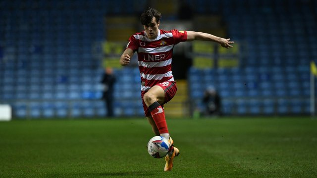 Branden Horton during his league debut for Rovers against Oxford United. Picture: Howard Roe/AHPIX