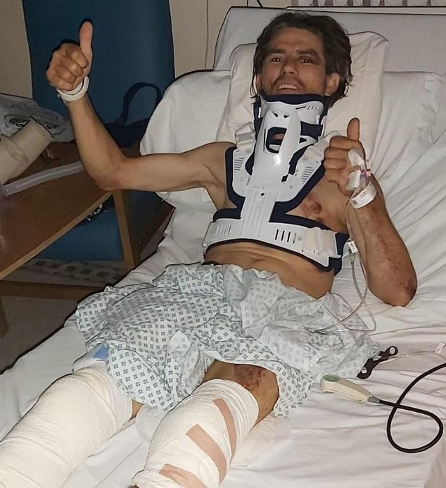 Costel Tablan is recovering in hospital after suffering horrific injuries when his van was stolen. He gave his heartfelt thanks to everyone who has donated to the appeal for a new van.