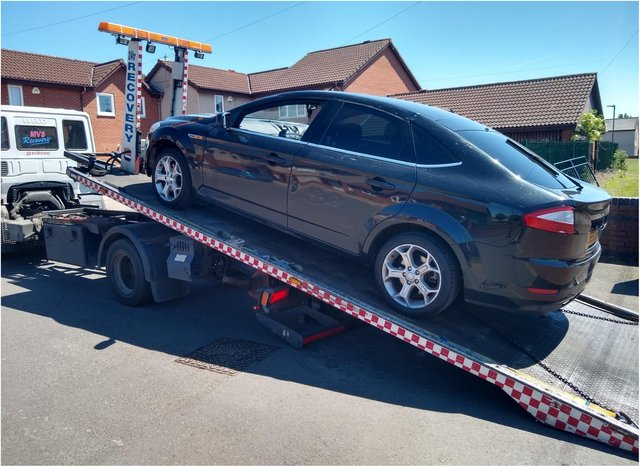 Police seized the car in Stainforth.