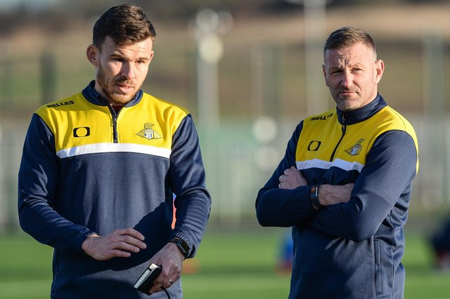 Andy  Butler and Nick Buxton, pictured on Belles duty.
