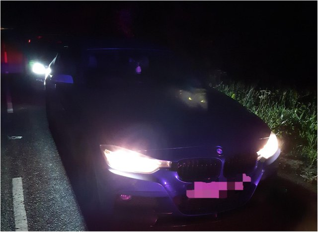 Police stopped the BMW driver in Doncaster.
