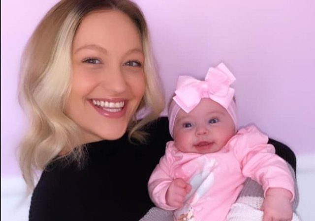 Sophie Stokes and baby Daisy Summer Stokes