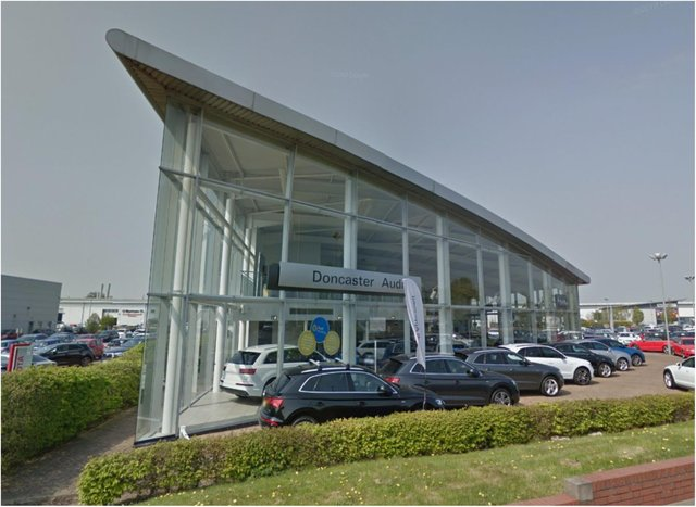 A teenage gang caused £50,000 of damage to cars at a Doncaster dealership.