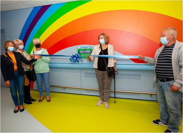 Diane Smith opened the new Kev's Wheels department at DRI.