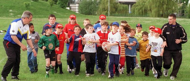 A fun rugby themed day took place at the Dome in 1998.