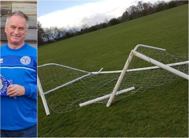 Tony Walton has blasted yobs who have smashed goals and stolen equipment from Armthorpe Wolves.