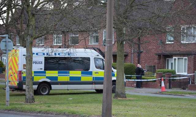 Police sealed off a house in Lonsdale Avenue, Intake. (Photo: Tony Critchley).