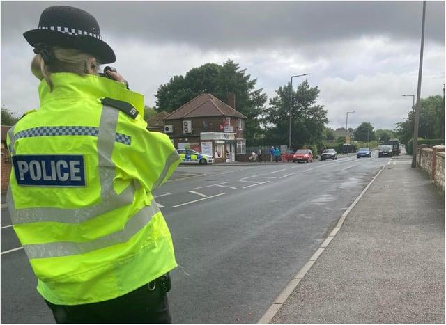 Police undertook a speeding clampdown in Conisbrough.