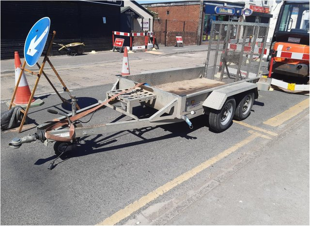 The trailer went missing in Stainforth for 12 minutes.