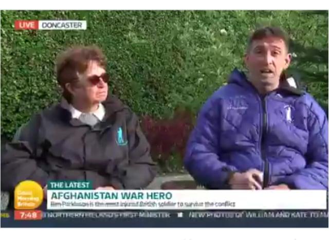 Ben Parkinson and mum Diane Dernie appeared on Good Morning Britain. (Photo: GMB).