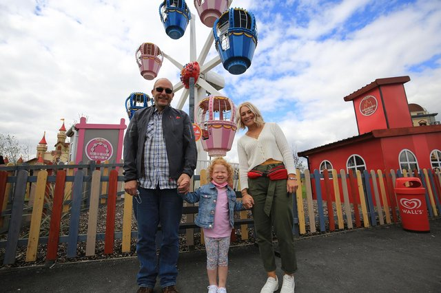 Pictured are Kirsty Taylor, Naomi, four, and David Taylor. Picture: Chris Etchells