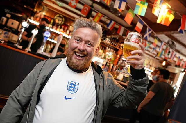 England v Germany. Shaun Hawkins, pictured at the Salutation.