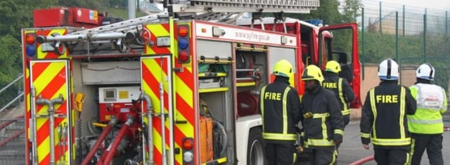 Firefighters were called out seven times