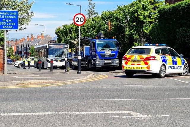 The scene on Norborough Road