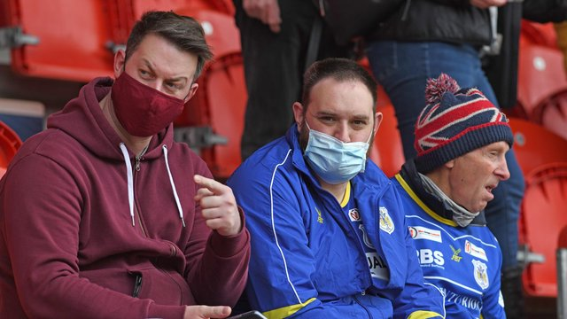 Dons fans were back inside the Keepmoat Stadium on Sunday for the first time in 14 months. Photo: Andrew Roe/AHPIX LTD