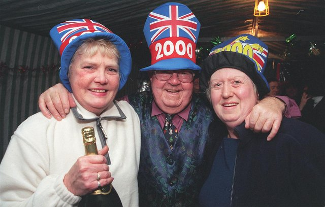 Residents from Sycamore Grove, Cantley, Doncaster at their Millennium street party. From left Judy Cantrell, John Custons and Rita Stacey.