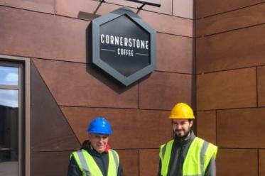 Cornerstone Coffee will open on April 12.