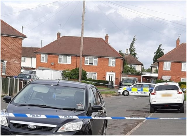 Chalmers Drive was sealed off after two separate violent incidents yesterday.