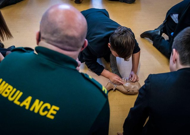Yorkshire Ambulance have taught CPR in four Doncaster schools.