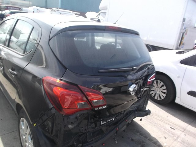 The damaged Vauxhall Corsa