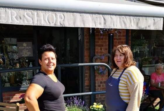 Joanne Moon who owns the Lakeside Cafe at Askern and Val Lindley from The Flower Shop.