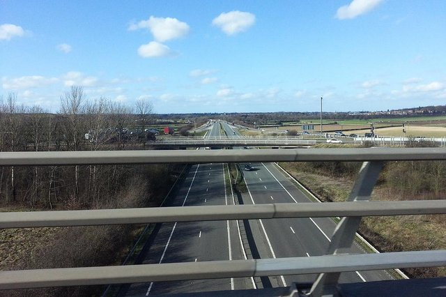 The A1(M) is being resurfaced