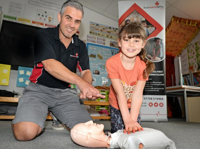 Sam Clark, of I Can Save A Life, pictured with his daughter Molly
