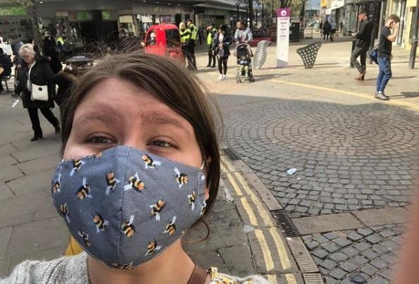 Reporter Laura Andrew - in the town centre.